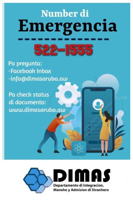 Number di Emergencia 522-1555